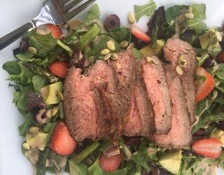 Strawberry Basil Balsamic Steak Salad