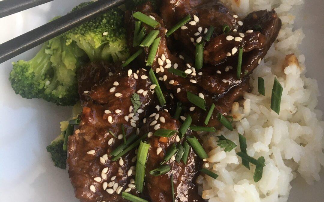 Healthier Mongolian Beef & Broccoli